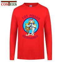 Men S Fashion Breaking Bad Shirt LOS POLLOS Hermanos T Shirt Chicken Brothers Long Sleeves Tee