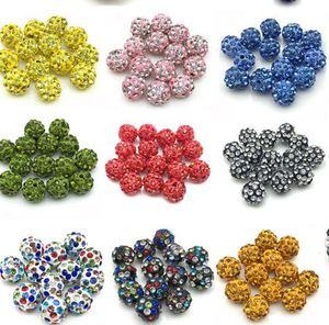 8 мм 100 шт./лот Горячие смешанные бусины браслет делая результаты Новое прибытие ожерелье горный хрусталь диско шар распорка кристалл