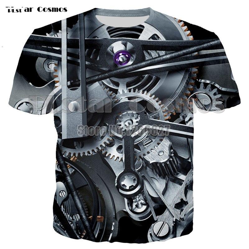 Summer sale Men women T-shirt 3D Print Mechanical Hip-Hop T-Shirt Unisex European Fashion Style Plus Size Round neck Tops