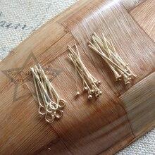 20 мм 400 шт KC бижутерия золотого цвета глаз/шар/плоская головка шпильки DIY ювелирных изделий и фитинги