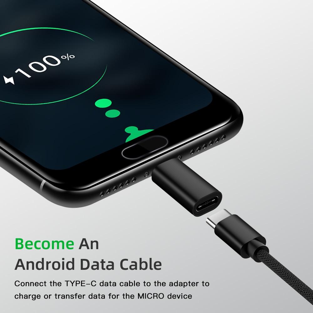 Адаптер Type-C USB C к Micro USB кабелю из сплава Micro USB папа к Type C гнездовой адаптер конвертер Разъем для телефона планшета