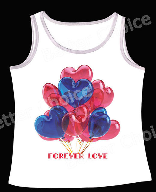 28c761163ce06a Track Ship+Vintage Retro Vest Tanks Tank Tops Camis Forever Love Heart  Balloon Blue and Red 0900