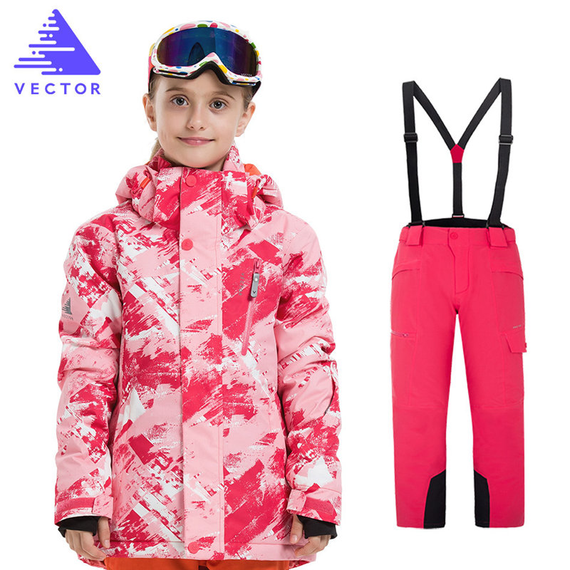 Girls Ski Suit Waterproof Kids Ski Jacket Ski Pants High Quality Winter Warm Clothing Outdoor Hooded Ski Suit -30 DegreeGirls Ski Suit Waterproof Kids Ski Jacket Ski Pants High Quality Winter Warm Clothing Outdoor Hooded Ski Suit -30 Degree