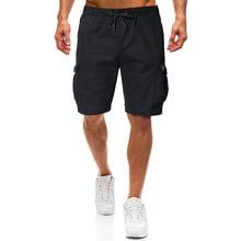 2019 new mens casual shorts black khaki loose jogger street short S-2XL