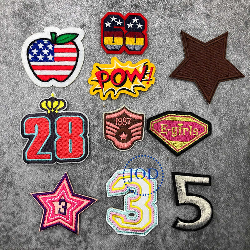 JOD skull Badge Aircraft Embroidery Patches for Clothes Applique Repair  Stickers Diy Accessories Thermo Application on Clothes