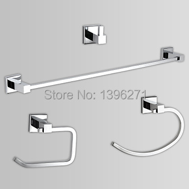 Bon Brass Chrome Finish Bathroom Accessory Sets (Include Toilet Roll Holders, Towel Ring,Towel