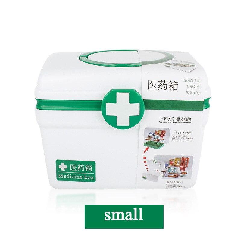 Household portable medicine box multi-layer large capacity emergency medical kit plastic storage