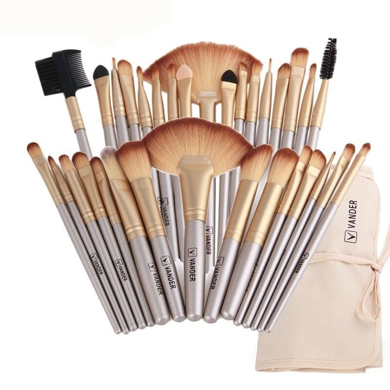 Vander 32 pcs pinceaux De Maquillage Avec Sac ombre à paupières Sourcil surligneur Kits De Brosse Cosmétique Fondation brosses pincel maquiagem
