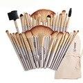 Kit de belleza con 32 pinceles suaves de cosmética para delinear ojos y labios, aplicar polvos, bases y coloretes, con bolsa de cuero sintético