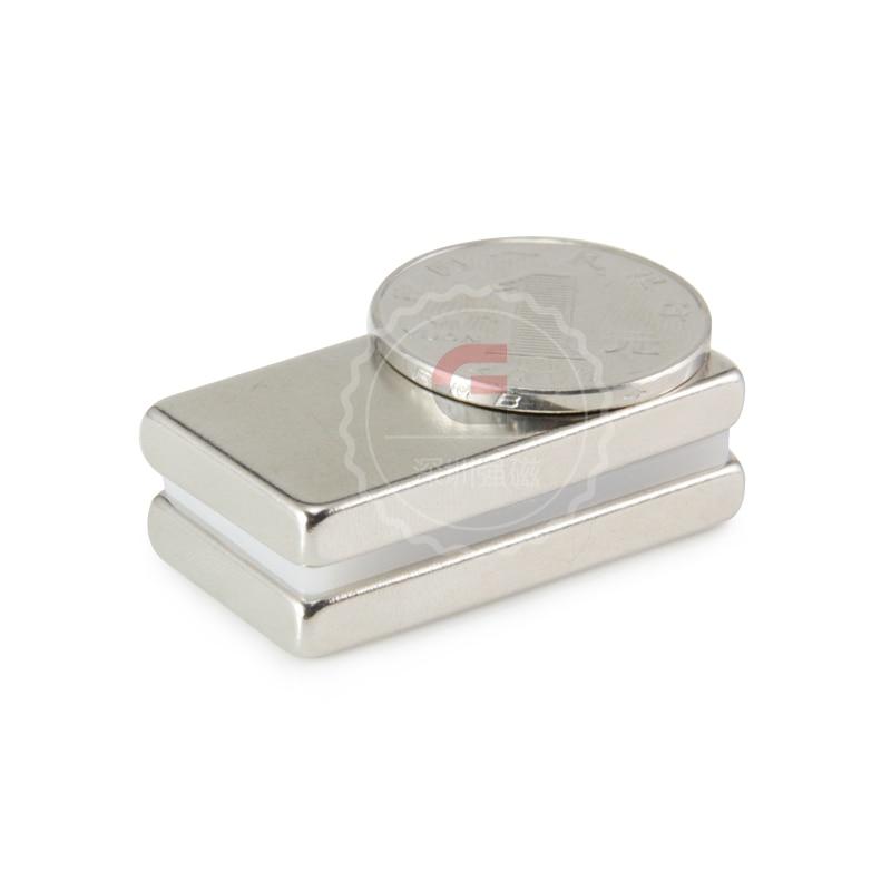 2pcs Strong Rare Earth Block Neodymium Magnets N50 40x20x5mm Permanet free shipping magnet earth 2 vol 5