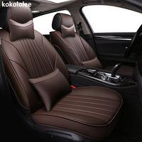 kokololee PU Leather car seat cover for Audi A6L R8 Q3 Q5 Q7 S4 RS Quattro A1 A2 A3 A4 A5 A6 A7 A8 auto accessories car stickers
