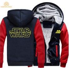 Star Wars Hot Sale Hoodies 2019 Spring Winter Jackets Mens Warm Fleece Sweatshirt Men Hip Hop Thicken Zipper M-5XL