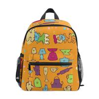 For girl Kids School Bags children's backpack Creative yellow pattern small bag large capacity for Women Kids for teenage girls