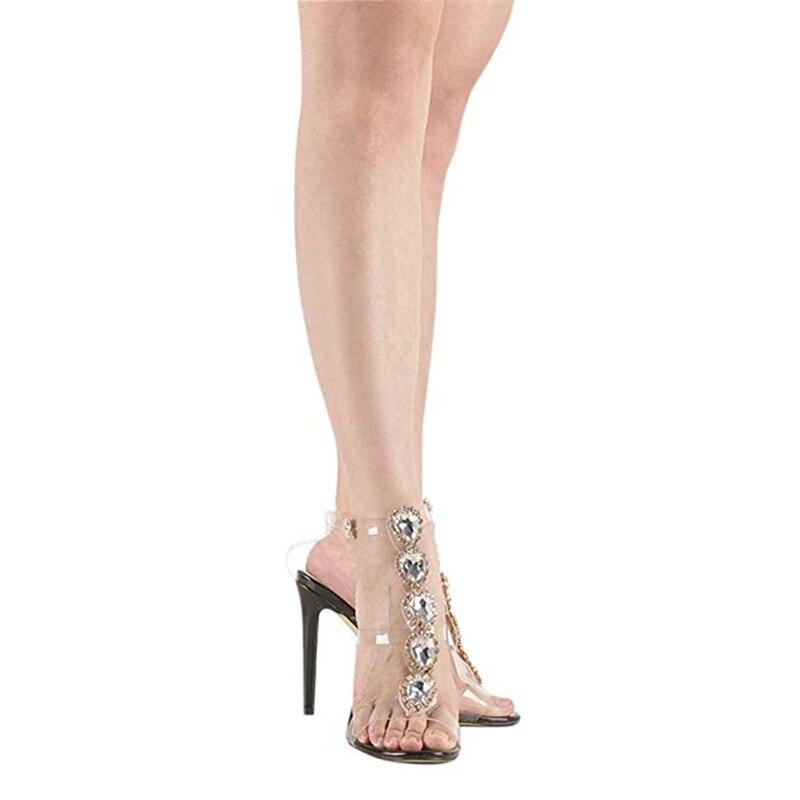 Size Nero Sandali Donna alti cinturino Design Sexy Tacchi 43 New Sottili Donna Gladiatore Big Cristalli T Scarpe con Party Estate Oro Brand Doratasia qU1CEfwZ