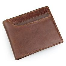 New Classical Vintage Style Men Wallets Genuine Leather Wallet Fashion Brand Purse Card Holder Wallet Man High Quality #MD-J8104