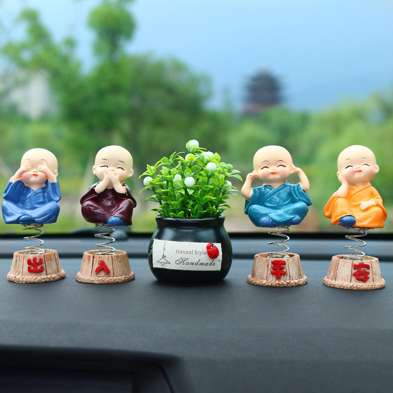 Car perfume Sweet fume Creativity Little monk interior Decoration Crafts Traditional Chinese Home decoration accessories