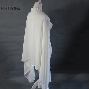 Image 5 - Bride Chiffon Wedding Accessories Shrug Wrap Shawl Married Scarf Bridal Stole Thin Cape