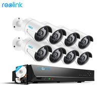 Reolink 4MP IP Security Camera system 16ch PoE NVR&8 PoE IP Outdoor Infrared Cameras 3TB HDD RLK16 410B8
