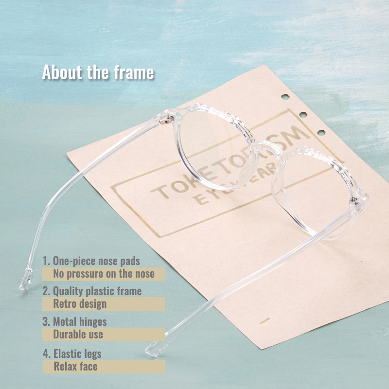 Toketorism unique glasses frames transparent glasses woman vintage optical frame myopia 5042 in Women 39 s Eyewear Frames from Apparel Accessories