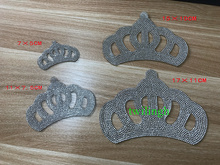 Crown Baby Suit Rhinestone Patches Hot Fix Motif Crystal iron on Glass Patch Applique For Children Clothes