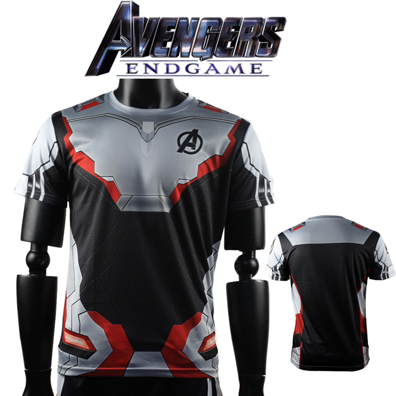 3D Avengers Endgame Realm Cosplay T-shirt Iron Man Captain Marvel Captain America Black Widow Costume Sport Tight Tees Dropship