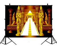 5x7ft Egypt European Castle Golden Palace Pillar Sweet Polyester Photo Background Portrait Backdrop