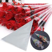 100Pcs Clear Cellophane Cone Gifts Sweet Candy Flower Packing Birthday Party Favor Gifts Display Wedding Party