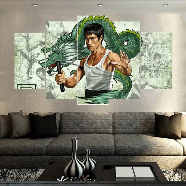 5 Pcs Set Hot Famous Game Figure Landscape Canvas Paintings Wall Art Oil Painting