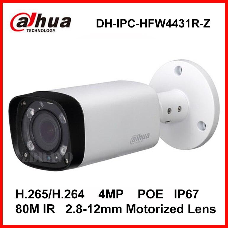 Dahua H 265 IPC HFW4431R Z 2 8 12mm Varifocal Motorized Lens Network 4MP IR 80M