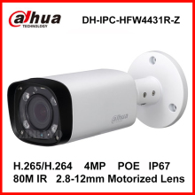 Dahua H.265 IPC-HFW4431R-Z 2.8-12mm Varifocal Motorized Lens Network 4MP IR 80M IP camera POE Digital Camera DH-IPC-HFW4431R-Z