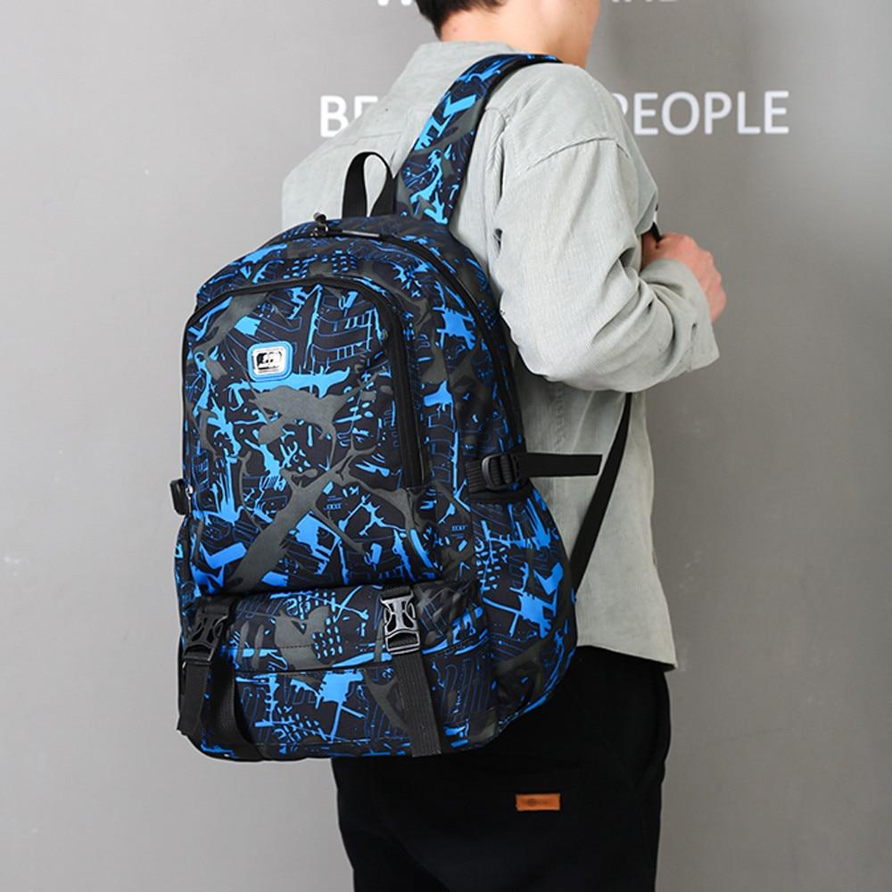 2cb750bed51f Causl Neutral Nylon Printing Backpack Men Travel Student School Laptop Bag  backpack mochila kanken mochila minecraft