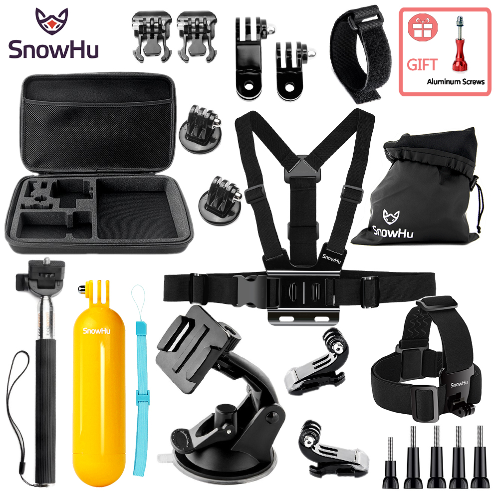SnowHu For Gopro Accessories Protective Storage Bag Carry Case for Xiaomi Yi Go pro Hero 5 4 Sjcam Sj4000 Action Camera ZH88 2pcs hard case storage box protective cover for xiaomi yi gopro hero 5 4 3 hero5 sjcam sj4000 sj5000 camera rechargeable battery