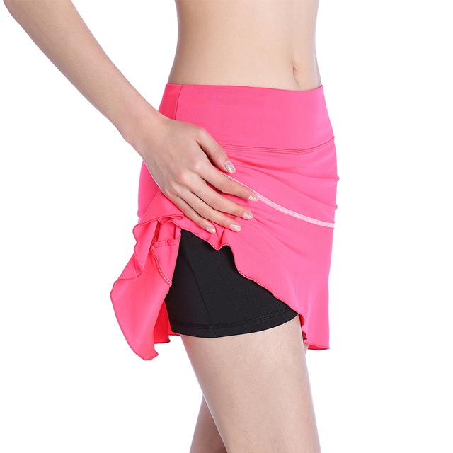 EAST HONG Women's Tennis Running Sports Skirts Fitness Badminton Golf Short Skirts