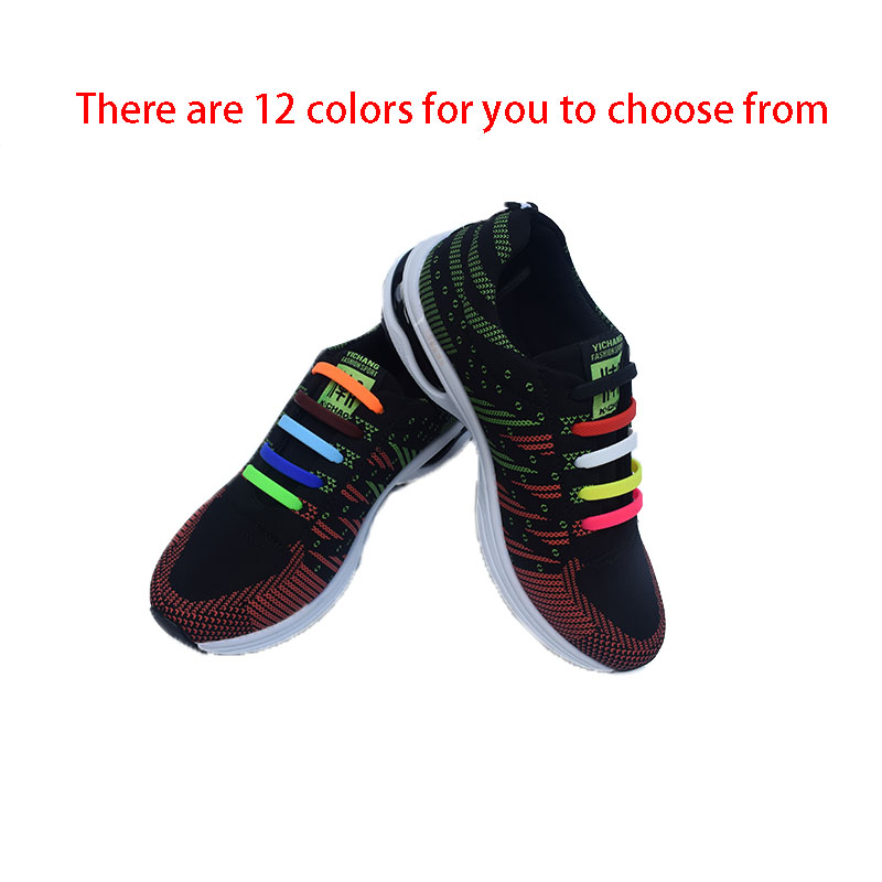 Chaussure Led Dragonscales Odern 8pcs/set Practical Fashionable Men Women Lazy Hammer Type No Tie Shoelaces Elastic Silicone