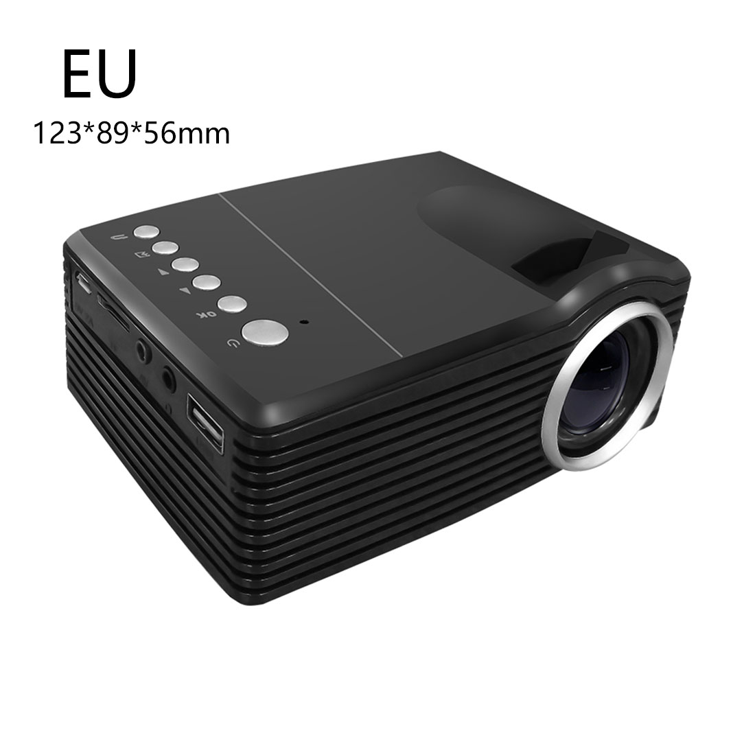 centechia MG300 Portable Hot LCD LED Projector 3.5mm Audio 320x240 EU Plug Pixel HDMI USB Mini MG300 Projector Home Media Player