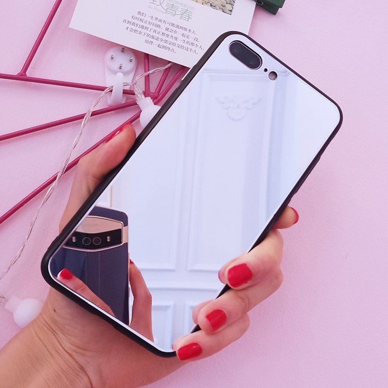Beautiful HD Mirror Case For iPhone XR X Case For iPhone XS MAX Phone Cover For iPhone 6 6S 7 8 Plus Best Gift Girl Friend Wife