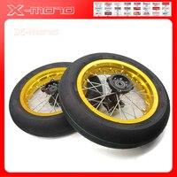 Высококачественные внедорожные измененные Аксессуары для мотоцикла Front2.15 12 и задние 2,50 12 дюймовые колеса 120/70 12 INNOVA шины
