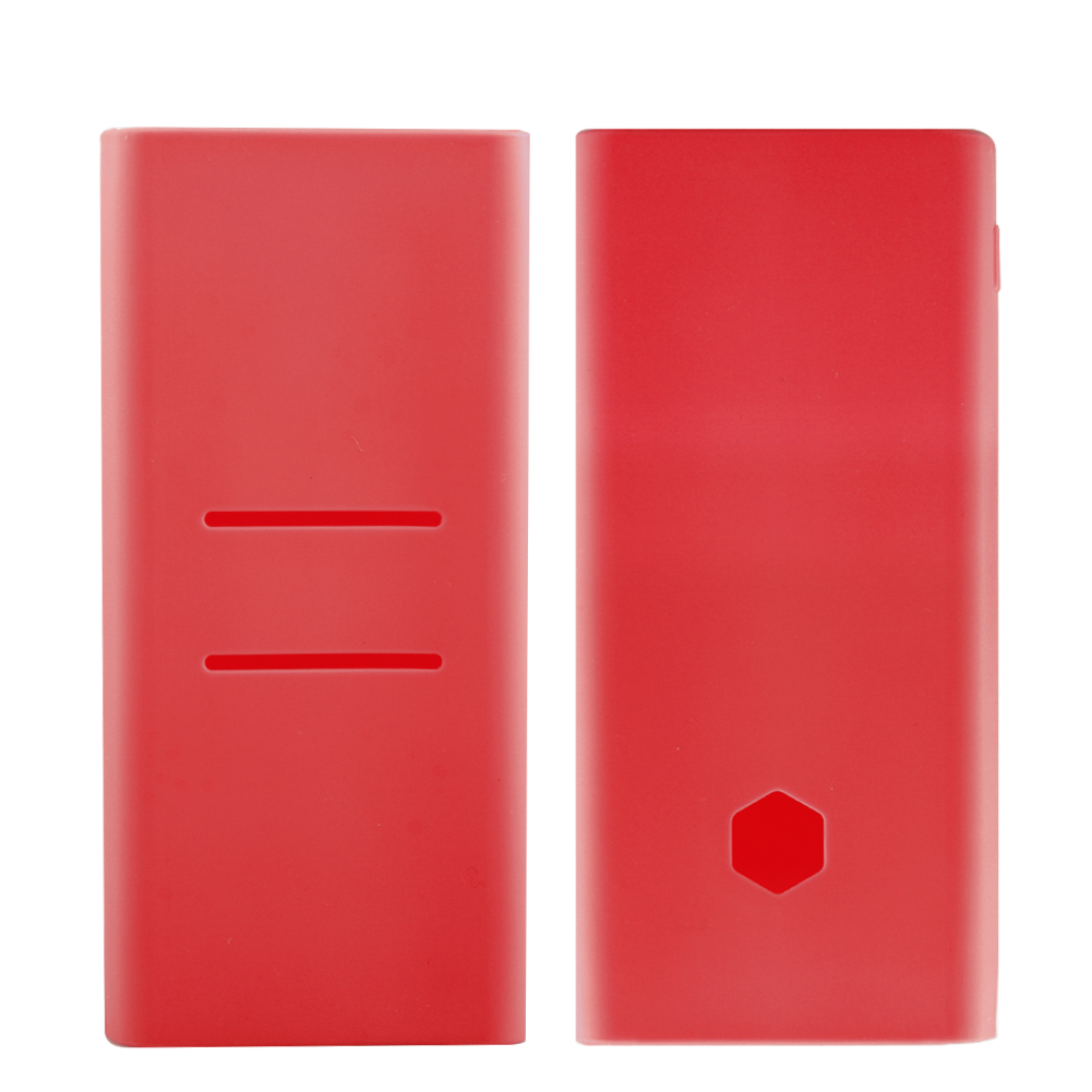 Scrub Silicone Case For Xiaomi Power Bank 2C New 20000mAh PLM06ZM Rubber Shell Cover For Portable External Battery Pack