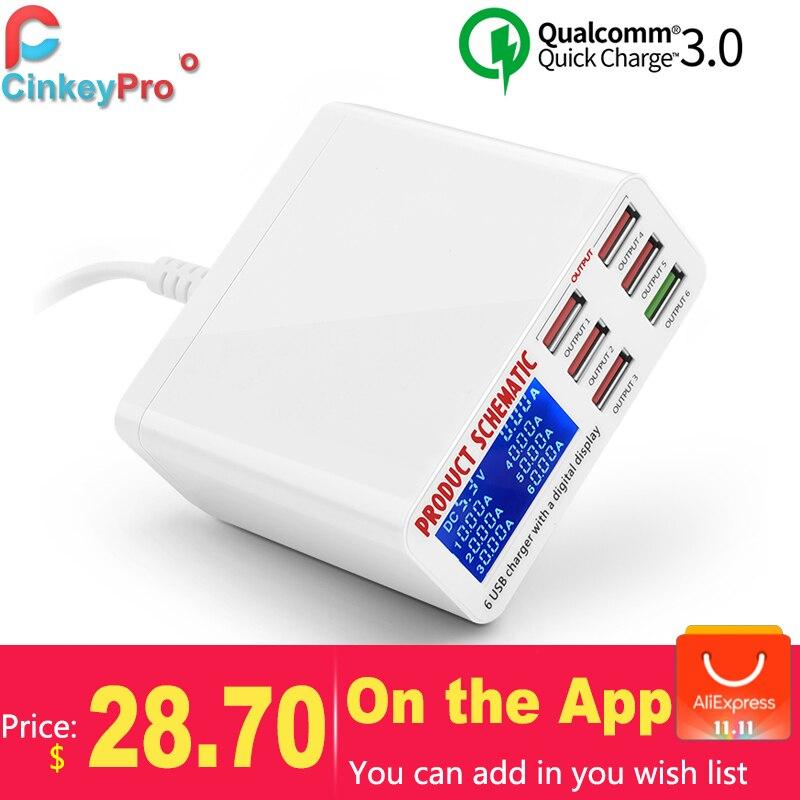 CinkeyPro LED Display USB Charger for iPs