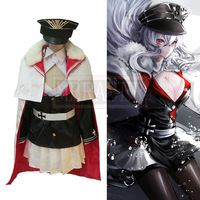 Azur Lane Graf Zeppelin Include Hat Cosplay Costume Halloween Uniform Outfit Custom Made Any Size