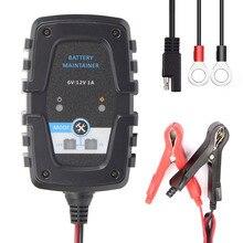 FOXSUR 6 в 12 В 1A Мотоцикл Скутер Autocycle Autobike Автомобиль Автоматический Смарт батарея зарядное устройство сопровождающий индикатор заряда зарядное устройство