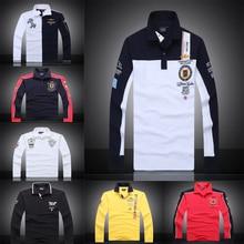 7 Models aeronautica militare camisa masculina polo mens Long sleeve Polo shirt brands Air force one solid polo shirt