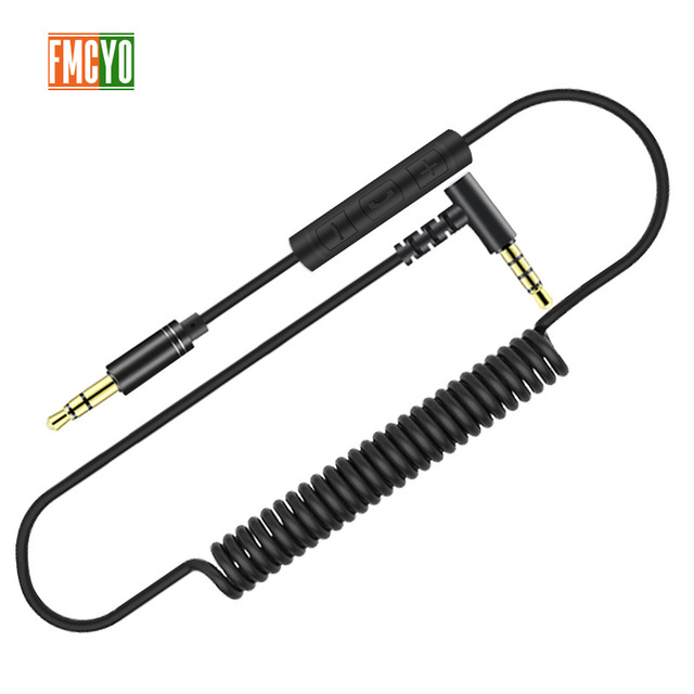 3.5 Aux Cable 1m Extension Aux Cord 3.5 Jack Male to Male Aux Cable Spring for Car Iphone
