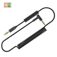 Cable auxiliar 3,5 1m extensión Cable auxiliar 3,5 Jack macho a macho Cable auxiliar resorte para coche Iphone