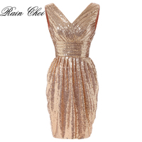 Short Cocktail Dresses V Neck Sexy Formal Evening Gown Mermaid Party Cocktail Dress 2018