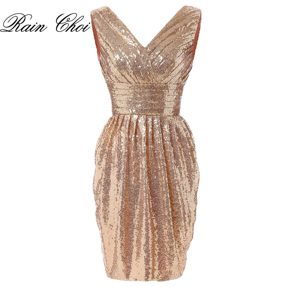 Short Cocktail Dresses V Neck Sexy Formal Evening Gown Mermaid Party Cocktail Dress 2019