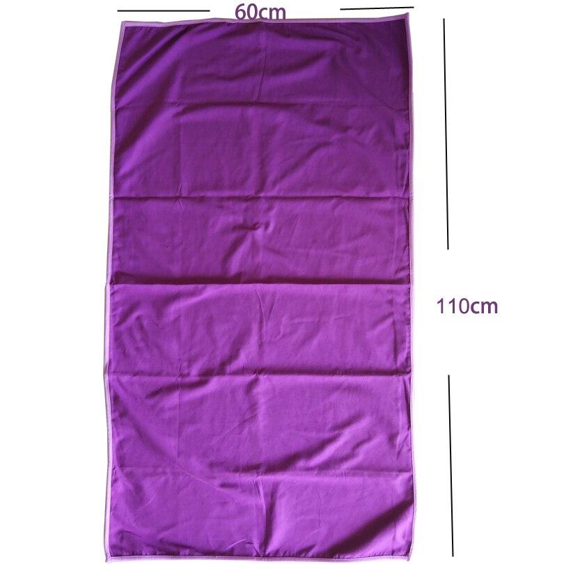 Zipsoft travel towel púrpura 60*110 cm capas de estera de la playa de secado ráp