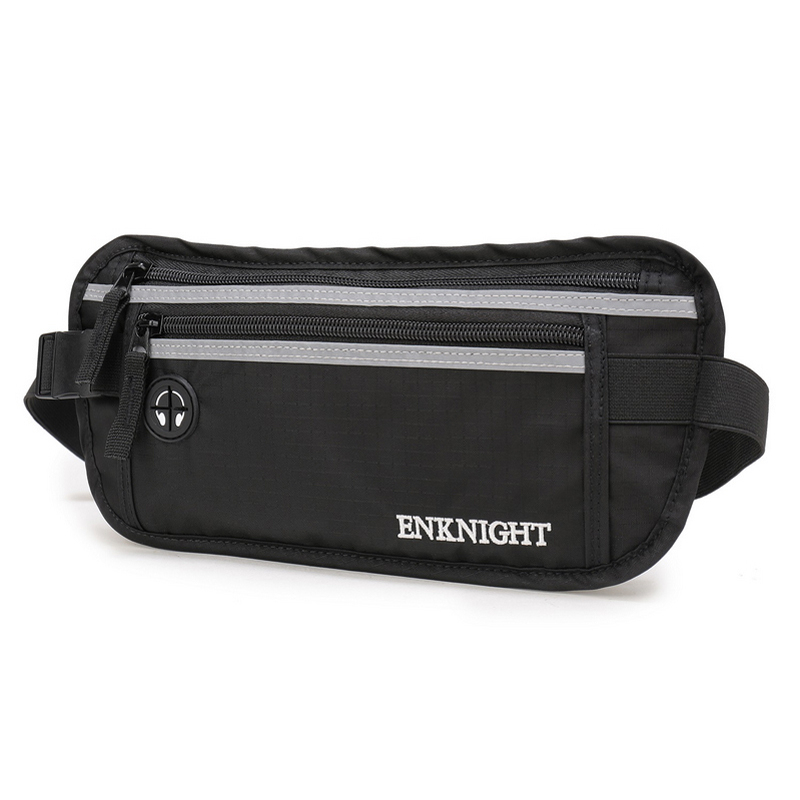 ENKNIGHT Big RFID Money Belt for Travel Waist Pack Fanny Card Anti-theft Pack