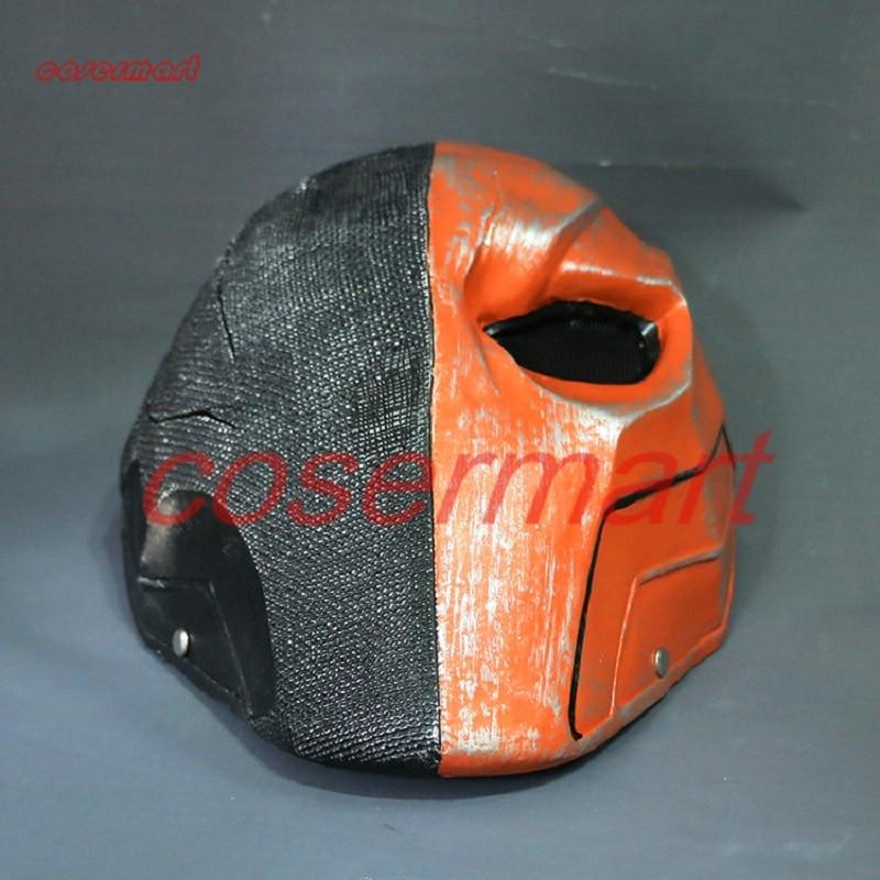 Nieuwe versie Orange Deathstroke Mask Helmet Arkham Deathstroke Mask - Carnavalskostuums