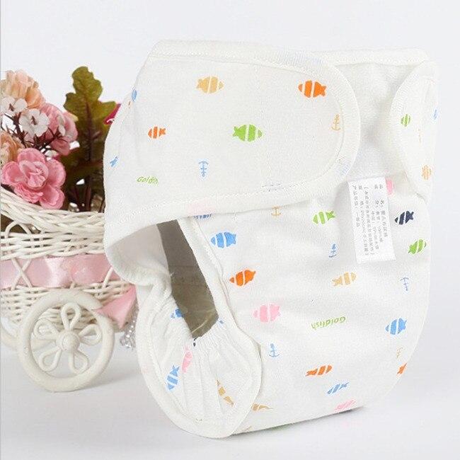 Хлопковые детские подгузники, подгузники, многоразовые стираемые тканевые подгузники, непромокаемые подгузники для новорожденных, трусики для тренировок, подгузники с карманами - Цвет: Fish